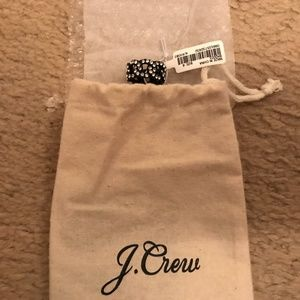 J.Crew Pav-Chain-Ring. Size:6. Black white
